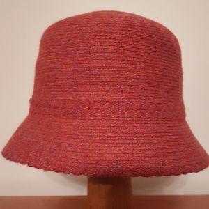Pink multi bucket hat